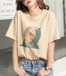 Shirt Customization Australia - New Fashion 100% pure cotton T Shirts High-end customization Womens T Shirts Fashion Brand woman Short Sleeve Large Size T Shirts