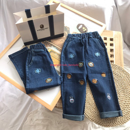 $enCountryForm.capitalKeyWord Australia - Children jeans autumn kids designer clothing cute animal pattern design jeans boys casual pants push