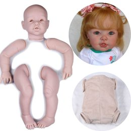$enCountryForm.capitalKeyWord UK - 29inch Large Toddler Kit Unpainted Doll Parts Silicone Kits bebes Reborn Lifelike Reborn Baby Kit Doll Accessories 29inch Large