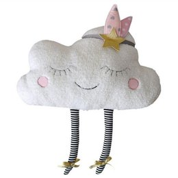 Toy Room Decor NZ - Baby Romantic Clouds Pillow with French Words Plush Toys Cute Cartoon Clouds Pillow Cushion Baby Kids Room Decor Dolls