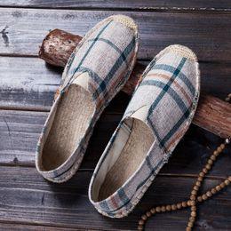 $enCountryForm.capitalKeyWord Australia - 2019 Summer Fashion Men Loafers Linen Korea Flat driving boat Shoes Male Black Canvas Shoes Fisherman Ethnic Style LA-1010