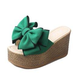 82e1a9657c019 Marke Frauen Hausschuhe High Heels Schuhe Frauen Wedges Sandalen Schuhe  Sommer Hausschuhe Weibliche Mules Party Plattform hoch