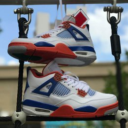 $enCountryForm.capitalKeyWord NZ - New Arrival Jumpman 4 4s White Blue Red Basketball Shoes Mens Outdoor Designer Trainers Sports Sneakers Size US 7-13