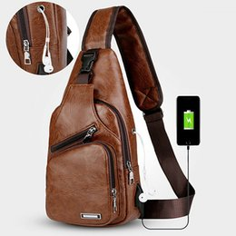 $enCountryForm.capitalKeyWord Australia - Fashion men chest pack single shoulder bags USB charging chest bag crossbody bags anti theft for Outdoor Sports Messengers Bag ZJ55