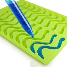 $enCountryForm.capitalKeyWord UK - Hot sellings 2019 amazon worm mini snake silicone chocolate candy molds Non-stick Gumdrop Jelly Baking Molds Ice Cube Trays