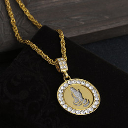$enCountryForm.capitalKeyWord Australia - European and American Hip Hop Angel's Hand Necklace Studded With Diamonds blingbling Gold Plated Pendant Men's Necklace Wholesale