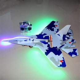 $enCountryForm.capitalKeyWord UK - 2019 Flashing Led Jet Shatter Resistant Foam Model Rc Plane Electric 6ch Remote Control Airplane Toys Drop Shipping