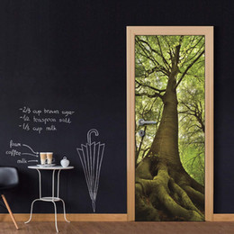 $enCountryForm.capitalKeyWord Australia - Door Wall Mural Wallpaper Stickers Huge Tree Vinyl Removable Decals for Home Room Decoration