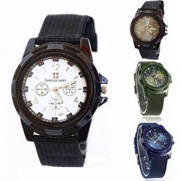 Men Sports Racing Watch Australia - Man watch Gemius Army Racing Force Sport Mens Fabric Band Watch Blue Watches Fabric brand luxury Male clock relogio