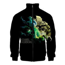 $enCountryForm.capitalKeyWord NZ - 2019 new Michael Joseph Jackson 3D printed Cool stand collar jacket fashion casual zipper streetwear Sweatshirt New Casual Cloth