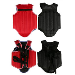 $enCountryForm.capitalKeyWord Australia - Cheap good quality MMA chest protectors back support body gear kick Boxing ProForce Male Sparring Fighting black chest guards #368148