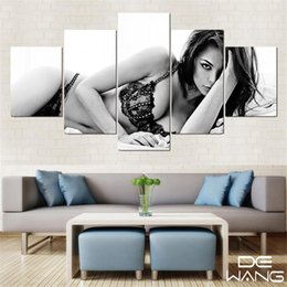 sexy figure nude Australia - Sexy Girl,5 Pieces Home Decor HD Printed Modern Art Painting on Canvas (Unframed Framed)