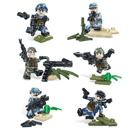 $enCountryForm.capitalKeyWord Australia - 6pcs Lot Wilderness Special Training Marine Army Air Force Military Special Force Figure with Weapon Building Block Brick Toy For Boy