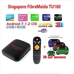 Singapore Fibremedia TU160 TV box sta hub l1ve+lifetime V0DTV 2g 8g singapore cable tv