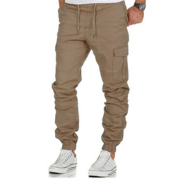 $enCountryForm.capitalKeyWord UK - Tactical Pants Army Male Camo Jogger Plus Size Cotton Trousers Many Pocket Zip Style Camouflage Black Men's Cargo Pants
