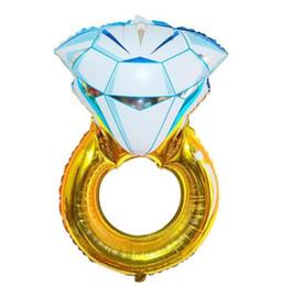 $enCountryForm.capitalKeyWord UK - 30 inch Diamond Ring Helium Balloon Wholesale Valentine Foil Balloons Wedding Engagement Birthday Party Decoration