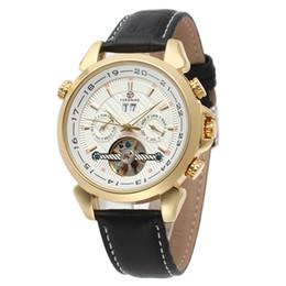 $enCountryForm.capitalKeyWord Australia - Forsining Men Tourbillion Genuine Leather Strap Mens Watch Automatic Wrist Watch Calendar Display Luxury Calendar Skeleton Clock SLZe20