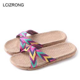 $enCountryForm.capitalKeyWord NZ - wholesale Summer 13 Colors Flax Home Slippers Women 35-45 Large Size Slapping Beach Flip Flops Non-slip Unisex Family