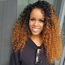 $enCountryForm.capitalKeyWord Australia - Lace Front Human Hair Wigs 1bT30 Kinky Curly Ombre Human Hair Wigs For Black Women Virgin Peruvian Hair Blonde Lace Wigs