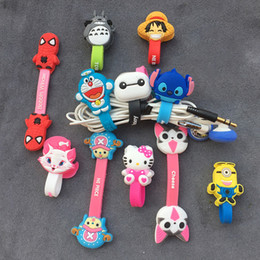 Cord Cable Bobbin NZ - Cartoon Cable Organizer Bobbin Winder Protector Wire Cord Management Marker Holder Cover For Earphone iPhone Sansid USB Charging Cable Cover