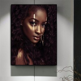$enCountryForm.capitalKeyWord Australia - Black and White African Art Nude Woman Canvas Painting Nordic Posters and Print Scandinavian Wall Art Picture for Living Room No Framed