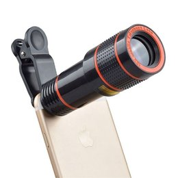 Telescope For Iphone 12x NZ - Universal 12X telephoto mobile phone lens focusing zoom telescope head external HD camera 12 times lens FOR: iphone Samsung