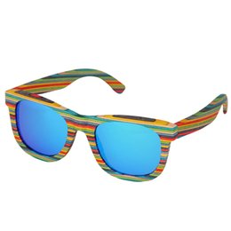 $enCountryForm.capitalKeyWord UK - Retro Handmade Colored wooden frame sunglasses Polarized women men multicolor sun glasses Beach Anti-UV eyeglasses for Driving