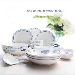 $enCountryForm.capitalKeyWord Australia - Jingdezhen Ceramic Bowls and Dishes Set Household Cute Tableware Creative Bone Porcelain Bowls,Chopsticks,Plates and Spoons dinnerware sets