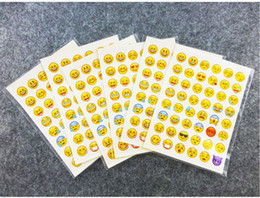 $enCountryForm.capitalKeyWord UK - 5pcs one sheet 48stickers hot popular sticker 48 Emoji Smile face stickers for notebook, message Twitter Large Viny Instagram