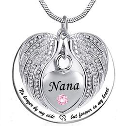 Nana Anjo Wing Urn Colar para Cinzas, Coração Cremação Memorial Lembrança Pingente de Colar de Jóias com o Kit de Enchimento e Presente em Promoção
