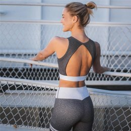 Gray Cotton Leggings Australia - New Sliver Gray Women Sexy Fitness Sports Suit For Female Yoga Set Sports Leggings Gym Fitness Sportswear Workout Clothes S-L #874623