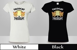 $enCountryForm.capitalKeyWord Australia - TACO CAT Backwards Kitty Mexican Food Animal T-Shirt WOmens Blak&White Tee 3free shipping Unisex Casual Tshirt