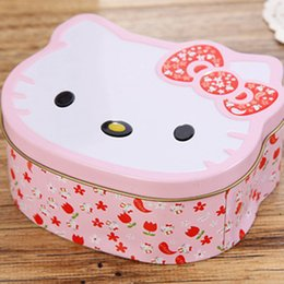 $enCountryForm.capitalKeyWord NZ - Cartoon Hello Kitty Mini Tin Metal Box Sealed Jar Candy Boxes Jewelry Storage Box Cute Coin Earrings Headphones Gift