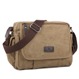 small canvas crossbody bag UK - Casual Canvas Men Small Shoulder Bag Vintage Satchel Retro Crossbody Sling For Leisure Male Messenger Handbag Bolsa Feminina Y190701