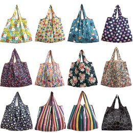 shop bag fruit NZ - Shopping bag Lady Foldable Recycle Shopping Bag Eco Reusable Shopping Tote Bag Cartoon Floral Fruit Vegetable Grocery organizer Light weight