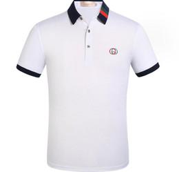 Men V Neck Polo Fashion Australia - 2019 new luxury menswear designer tops t-shirt men's short-sleeved fashion summer fashion men's v-neck Polo shirt tee