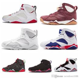 4ac23d9ac37a60 2019 7 7s Mens Basketball Shoes Purple UNC Bordeaux Olympic Panton Pure  Raptor Retro VII Designer Men Sneakers Trainers Sports Shoes 36-47