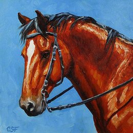 Red Ink Painting Australia - Artwork-fiery-red-bay-horse- Unframed Modern Canvas Wall Art for Home and Office Decoration,Oil Painting ,Animal painatings ,frame.