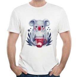 $enCountryForm.capitalKeyWord Australia - Koala t shirt I love Australia short sleeve tops Cute bear fadeless tees Unisex white colorfast clothing Pure color modal Tshirt