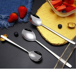 Good 304 Stainless Steel Regular Alpha Round Spoons Extra-Fine Dessert Spoons for Home Kitchen or Restaurant 6-8 Inches 3 Sizes