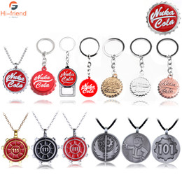 Car games boys online shopping - 10PCS Game Nuka Cola Botter Opener Keychains Pendants Pip Boy Keyring Car Chaveiro Love Beer Friends Gift Wholesales Jewelry