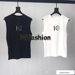 $enCountryForm.capitalKeyWord Australia - 19ss Europe Paris Sequins Cooperate Laser Print Sleeveless Tshirt Vest Fashion Men Women High Quality Tank Top T Shirt Casual Cotton Tee