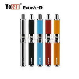 $enCountryForm.capitalKeyWord Australia - Authentic Yocan Evolve D Starter Kit 650mah Quartz Dual Coils Wax vaporizer Pen Kit 5 Colors Vape Pens Ecig Kits DHL Free 100% Authentic Yo