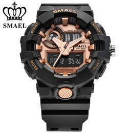 $enCountryForm.capitalKeyWord Australia - Smael New Fashion Men Sports Watches Men Quartz Analog LED Digital Clock Man Waterproof Watch Relogio Masculino Gift