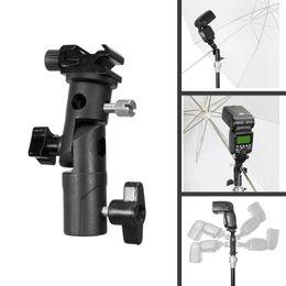 flash mount stand 2019 - Selens Swivel Flash Hot Shoe Umbrella Holder Mount Adapter for Studio Light Type E Stand Bracket B for Light Stand Speed