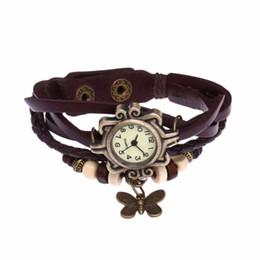 $enCountryForm.capitalKeyWord NZ - Leather Bracelet Watch Women Charm Leaf Ethnic Geneva Style Bracelets&Bangles Vintage Lady Jewelry Cheap Gift