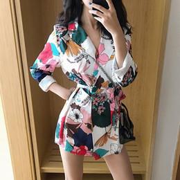 $enCountryForm.capitalKeyWord Australia - #5464 Spring Casual Long Kimono Coat Women Lace Up Vintage Floral Print Jacket Women Harajuku Windbreaker Green White