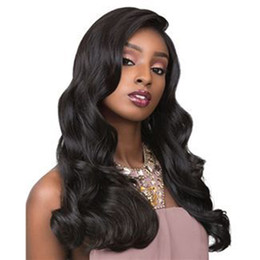 medium wigs for women UK - Glueless Full Lace Human Hair Wigs Pre Plucked Cheap Body Wave Malaysian Virgin Hair Lace Front Wigs For Black Women