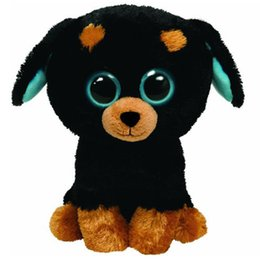 "ty plush Canada - Pyoopeo Ty Beanie Boos 6"" 15cm Tuffy the Rottweiler Plush Regular Soft Big-eyed Stuffed Animal Collection Dog Doll Toy"