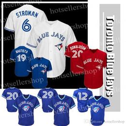 564c6117d Toronto Blue Jays baseball jerseys 6 Marcus Stroman 20 2 12 Roberto Alomar  29 Joe Carter 11 Kevin Pilar 19 Jose Bautista